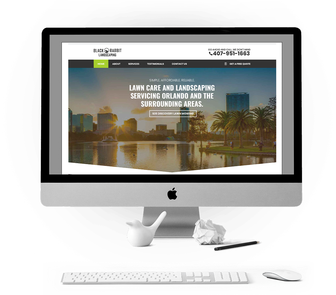 Orlando Lawn Care and Landscaping Website Design and Development